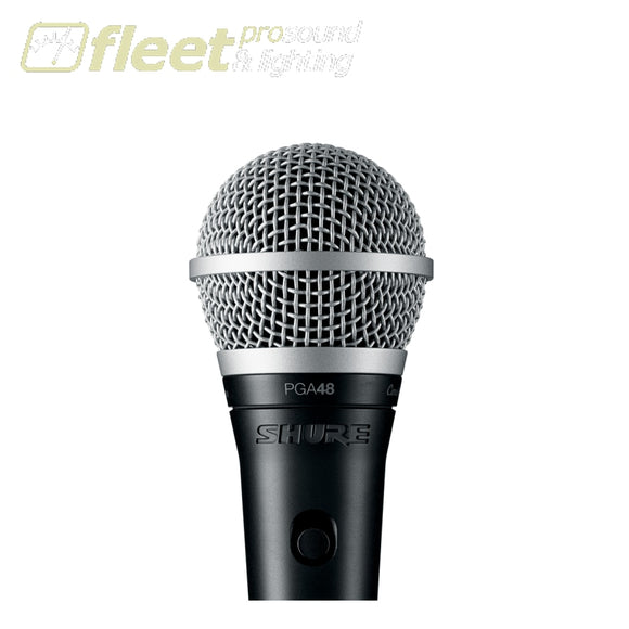 Shure PGA48XLR Vocal Microphone with XLR Cable DYNAMIC VOCAL MICS