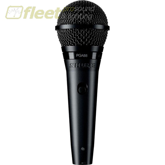 Shure PGA58-XLR Vocal Microphone with XLR Cable DYNAMIC VOCAL MICS