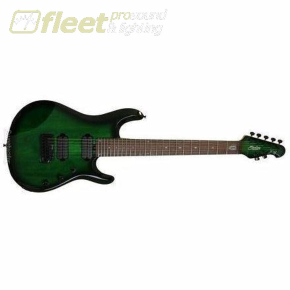 Sterling JP70-TGB John Petrucci Signature Guitar Trans Green Burst 7 & 8 STRING GUITARS