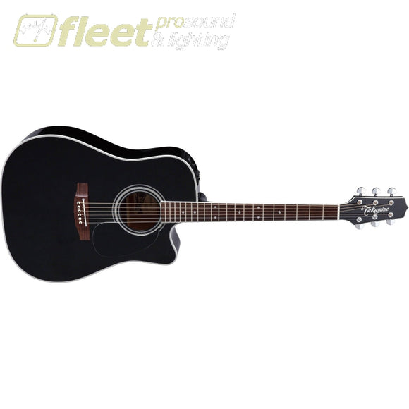 Takamine Ef341Sc 6 String Acoustic Electric Guitar With Case Black String Acoustic With Electronics