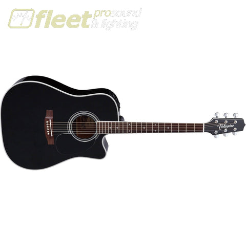 Takamine Ef341sc Pro Series Dreadnought Acoustic Electric Guitar Black With Case Acoustic Electric Guitars