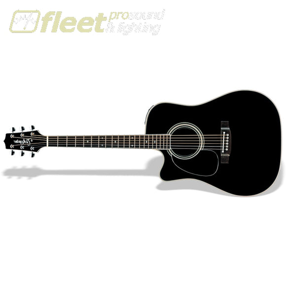 Takamine Ef341Sc-Lh Black Lefty Acoustic Guitar Left Handed Acoustics