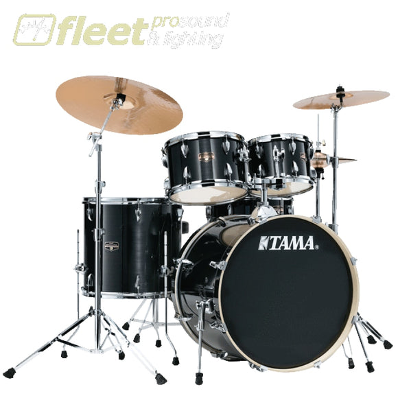Tama IE50H6W-HBK Imperial Star 5-Piece Drum Kit - Hairline Black ACOUSTIC DRUM KITS