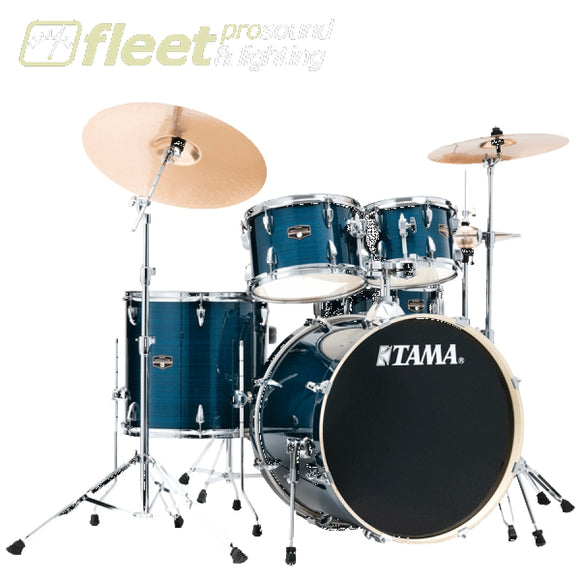 Tama IE52KH6W-HLB Imperial Star 5-Piece Drum Kit - Hairline Blue ACOUSTIC DRUM KITS