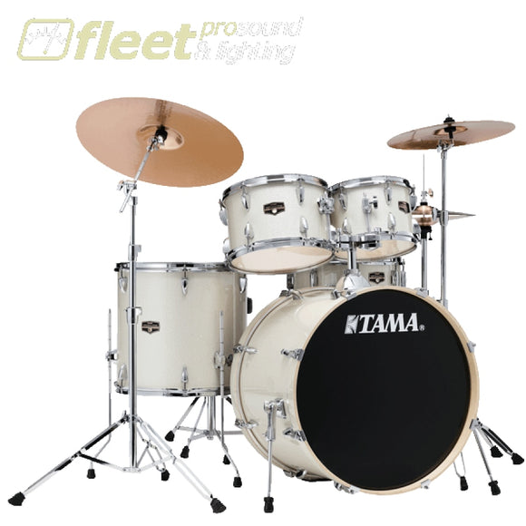 Tama IE52KH6W-VWS Imperial Star 5-Piece Drum Kit - Vintage White Sparkle ACOUSTIC DRUM KITS