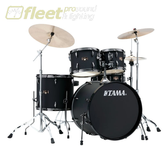 Tama Ip52Kh6N-Bbob Imperialstar 5Pce W/meinl Cymbal Pack And Hardware - Blacked Out Black Acoustic Drum Kits