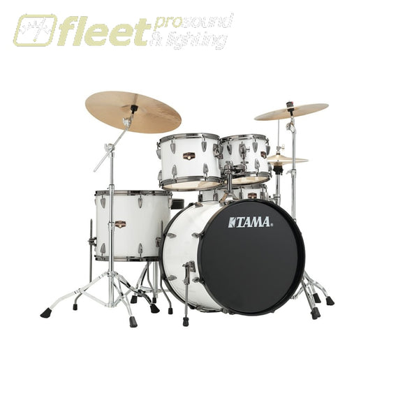 Tama Ip52Kh6N-Bsgw Imperialstar 5Pce W/meinl Cymbal Pack And Hardware - Sugar White Acoustic Drum Kits