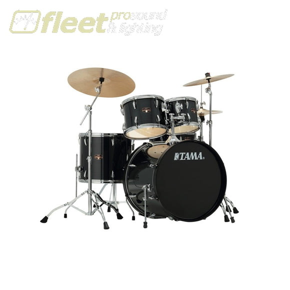 Tama Ip52Kh6N-Hbk Imperialstar 5Pce W/meinl Cymbal Pack And Hardware - Hairline Black Acoustic Drum Kits