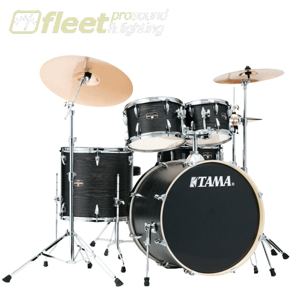Tama IP52KH6NB-BOW Imperialstar Drum with Meinl Cymbal Pack And Hardware - Black Oak Wrap ACOUSTIC DRUM KITS