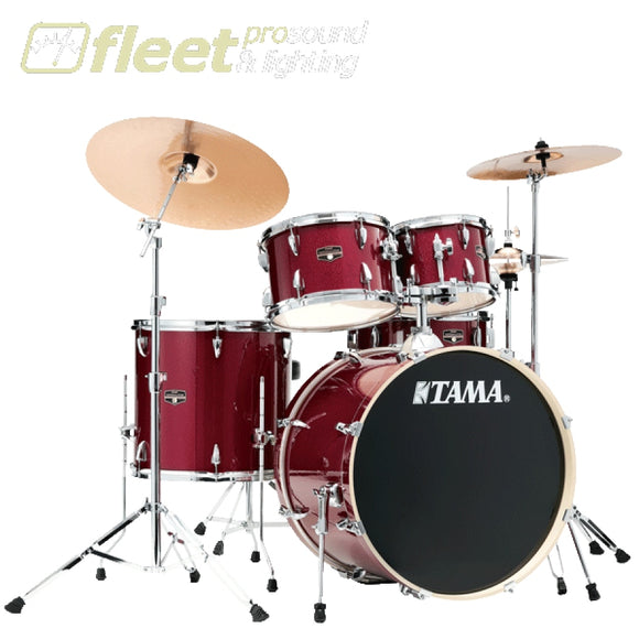 Tama IP52KH6NB-CPM Imperialstar Drum with Meinl Cymbal Pack And Hardware - Candy Apple Mist ACOUSTIC DRUM KITS