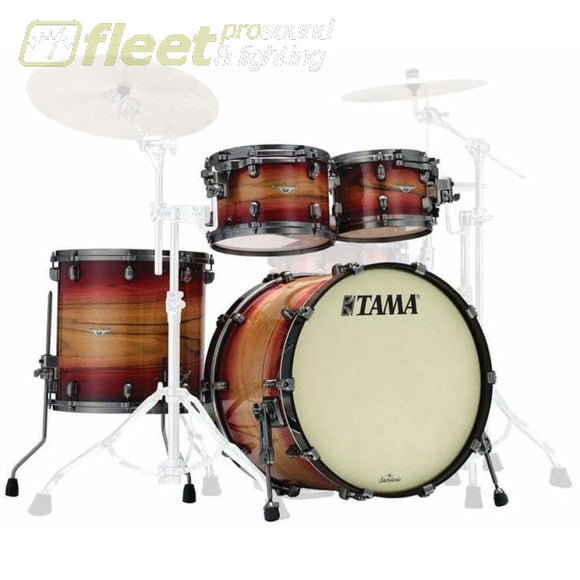 Tama Me42Tzus-Lrwb Starclassic. Maple Standard - Ruby Pacific Walnut Burst Acoustic Drum Kits
