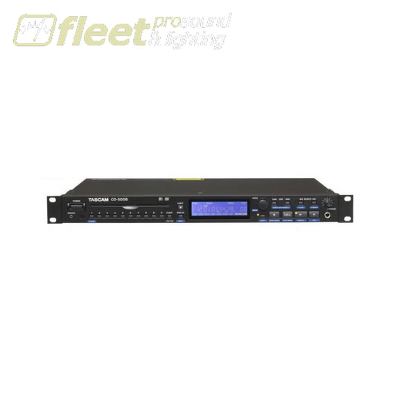 Tascam CD-500B Single Rack CD Player with Balanced Out DUAL CD PLAYERS
