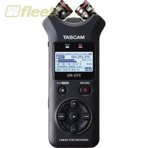 Tascam DR-07X Stereo Handheld Digital Audio Recorder and USB Audio Interface PORTABLE RECORDERS