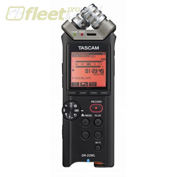 Tascam DR-22WL Stereo Portable Handheld Recorder w/ Wifi PORTABLE RECORDERS