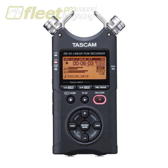 Tascam DR-40 4-Track Portable Ditigal Recorder PORTABLE RECORDERS
