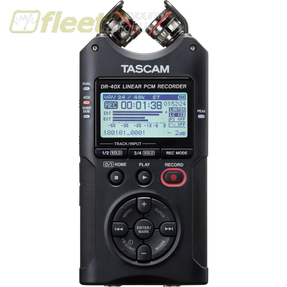 Tascam DR-40X 4-Track Audio Recorder PORTABLE RECORDERS