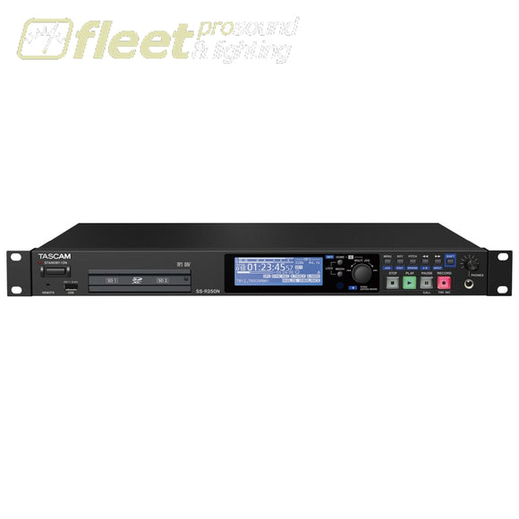 Tascam SS-R250N two-channel recorder/player for network applications MULTI TRACK RECORDERS