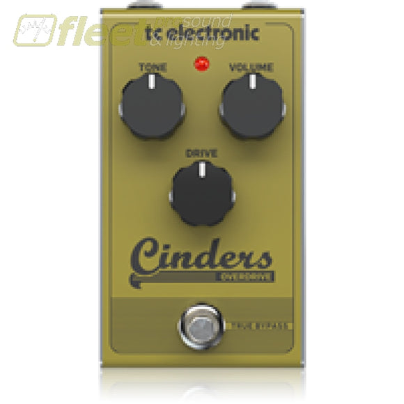 Tc Electronic Cindersoverdriv Distortion Effects Pedal Guitar Distortion Pedals