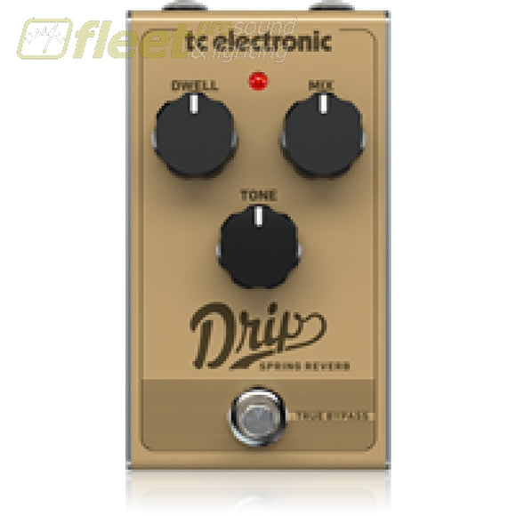 Tc Electronic Drip-Spring Reverb Effect Pedal Guitar Reverb Pedals