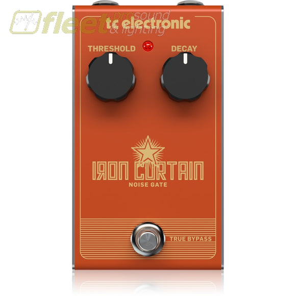 Tc Electronic Ironcurtain Noise Gate Pedal Guitar Noise Reducer Pedals