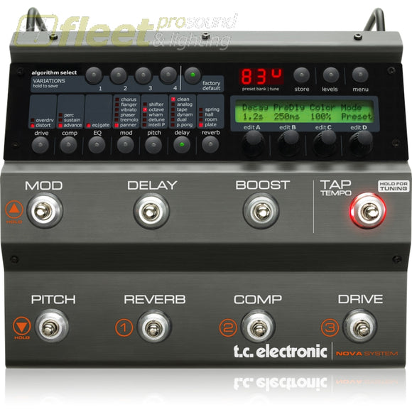 TC Electronic NOVASYSTEM Compact Floor-Based Effects Processor EFFECTS PROCESSORS