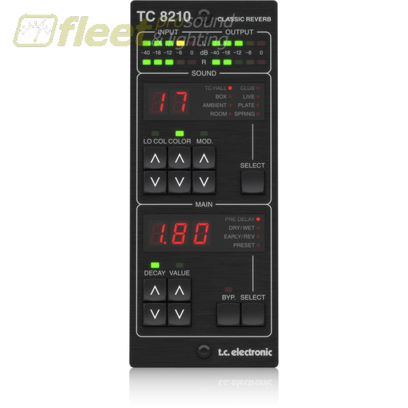 TC Electronic TC8210-DT Classic Mixing Reverb Plug-in with Dedicated Hardware Controller DAW CONTROL SURFACES