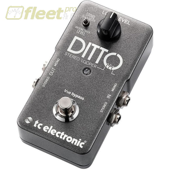 Tc Electronics Ditto Stereo Looper Effect Pedal Guitar Looper Pedals
