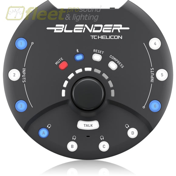 TC Helicon BLENDER Portable 12x8 Stereo Mixer w/ USB Connectivity USB AUDIO INTERFACES