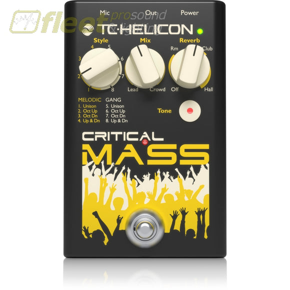 Tc Helicon Criticalmass Vocal Stompbox For Large Group-Sound Effects Effects Processors