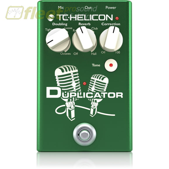 tc helicon duplicator stompbox with doubling reverb and pitch correct fleet pro sound. Black Bedroom Furniture Sets. Home Design Ideas