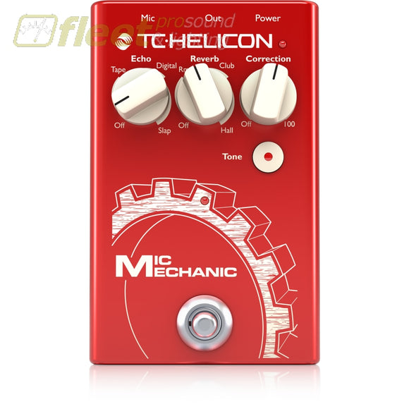 Tc Helicon Micmechanic2 Vocal Effects Stompbox With Reverb Echo And Pitch Correction Effects Processors
