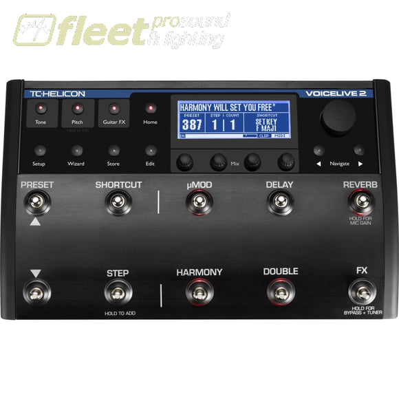 Tc Helicon Voicelive2Vloop Multi-Effect Pedal/processor Effects Processors