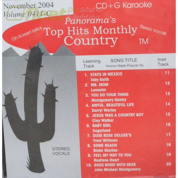 Top Hits Monthly Country Thmc0411 November 2004 Karaoke Discs