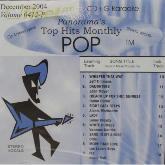 Top Hits Monthly Pop Thmp0412 December 2004 Karaoke Discs