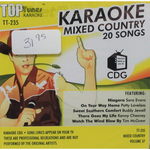 Top Tunes Tt235 Mixed Country Vol.37 Karaoke Discs