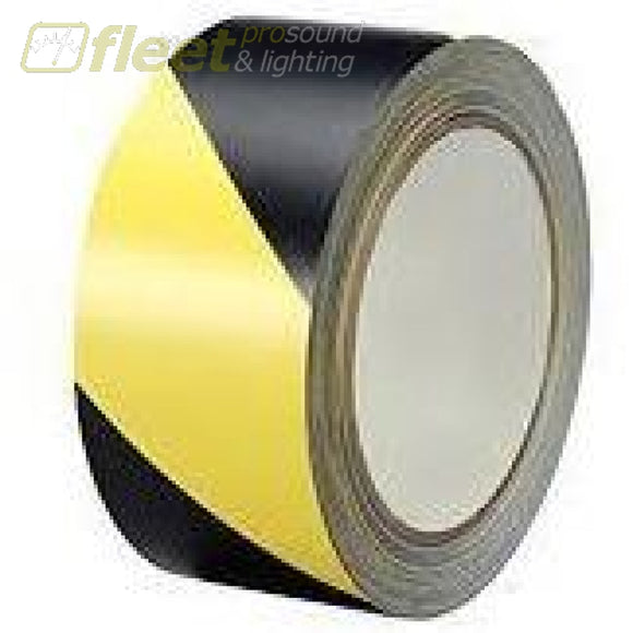 Tory Tape 7705 Hazzard 2 Inch 36 Yard Black And Yellow Gaffer Tapes