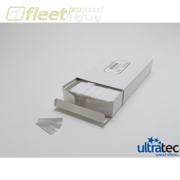 Ultratec Pro Fetti 1 Pd/0.5 KG Stacked Flame Proof White/Silver Mylar CONFETTI