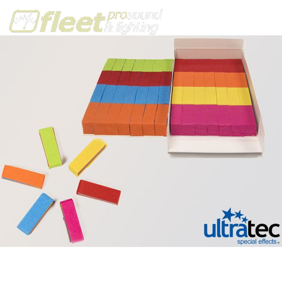 Ultratec Pro Fetti PAP-2025 -1 Pd/0.5 KG Box Stacked Flame Proof Multi Color CONFETTI