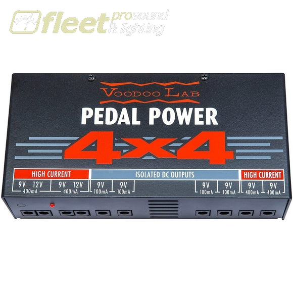 Voodoo Lab Pedal Power 4X4 Audiophile Quality Power Supply - P44 Power Supplies