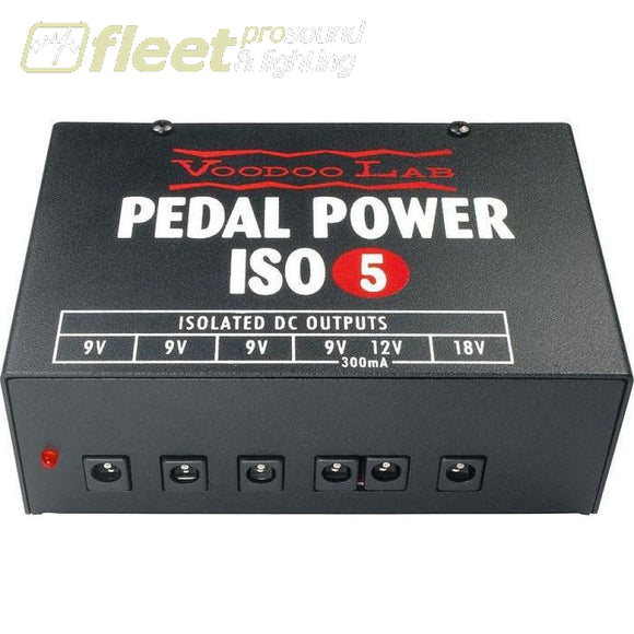 Voodoo Labs Universal Power Supply Pedal Power Iso-5 - Pi Power Supplies