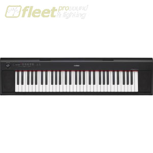 Yahama Np12B Piaggerro 61 Key Portable Keyboard - Black Keyboards & Synthesizers