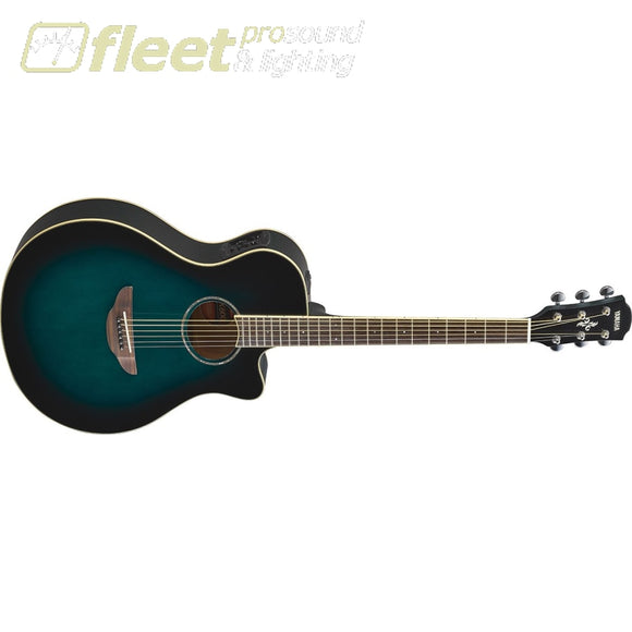 Yamaha Apx600Obb Thinline Acoustic Electric Guitar - Oriental Blue Burst 6 String Acoustic With Electronics