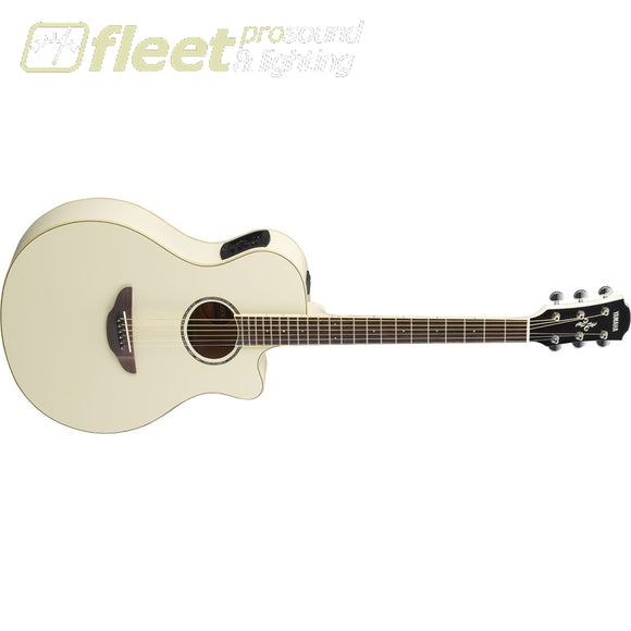 Yamaha Apx600Vw Thinline Acoustic Electric Guitar - Vintage White 6 String Acoustic With Electronics