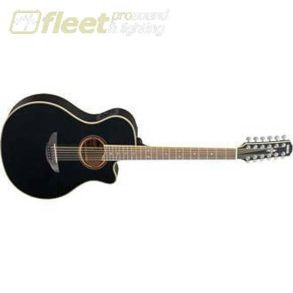 Yamaha APX700II-12 BL 12-String Acoustic-Electric Guitar - Black Finish 12 STRING ELECTRIC GUITARS