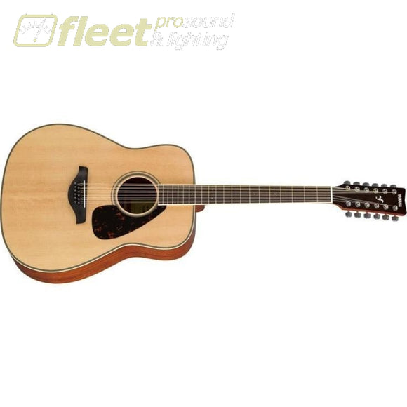 Yamaha FG820-12 Solid Spruce Top 12-String Acoustic Folk Guitar - Natural Finish 12 STRING ACOUSTICS