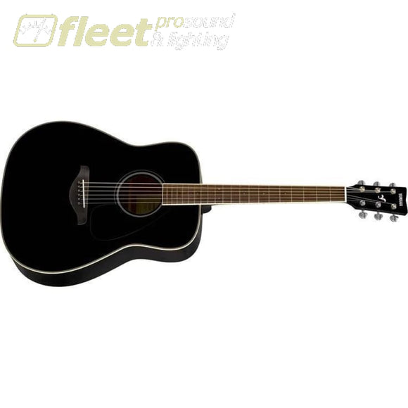 Yamaha FG820 BL Solid Spruce Top Acoustic Folk Guitar - Black Finish 6 STRING ACOUSTIC WITHOUT ELECTRONICS