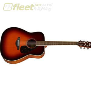 Yamaha FG820 BS Solid Spruce Top Acoustic Folk Guitar - Brown Sunburst Finish 6 STRING ACOUSTIC WITHOUT ELECTRONICS
