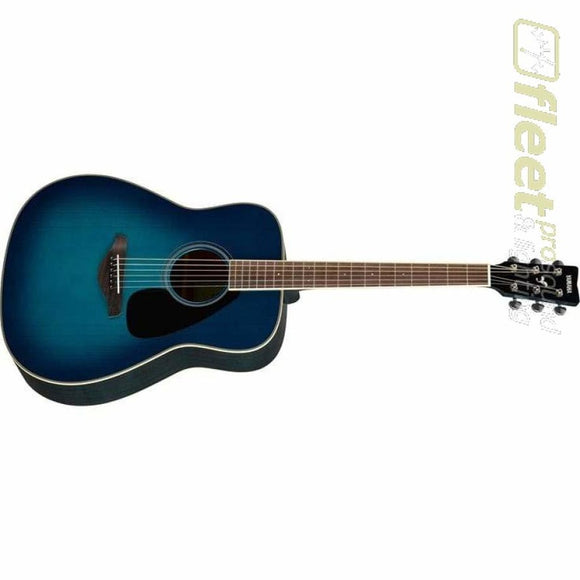 Yamaha FG820 SB Solid Spruce Top Acoustic Folk Guitar - Sunset Blue Finish 6 STRING ACOUSTIC WITHOUT ELECTRONICS