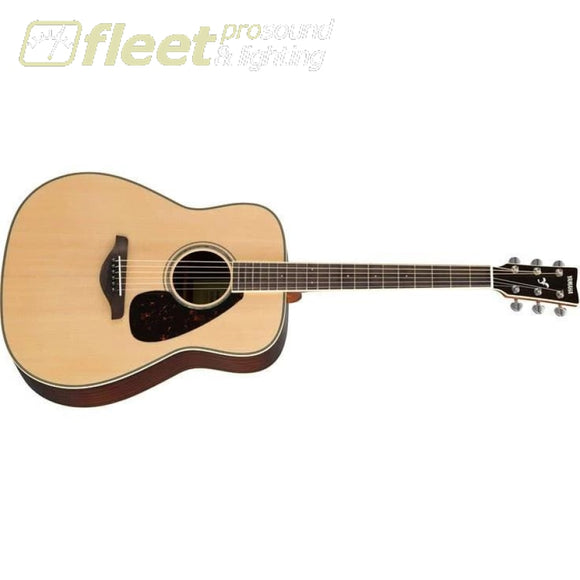 Yamaha FG830 Solid Spruce Top Acoustic Folk Guitar - Natural Finish 6 STRING ACOUSTIC WITHOUT ELECTRONICS
