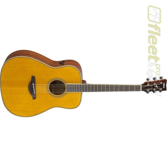 Yamaha FGTA VT Trans Acoustic Folk Guitar w/ Solid Spruce Top Mahogany B&S - Vintage Tint 6 STRING ACOUSTIC WITH ELECTRONICS